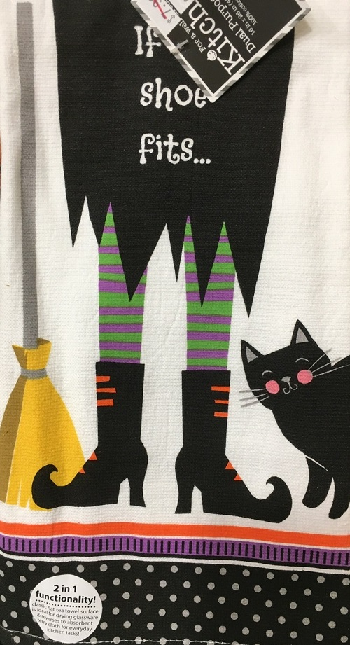 Kay Dee (H2943) Witch Legs Dual Purpose Terry Towel