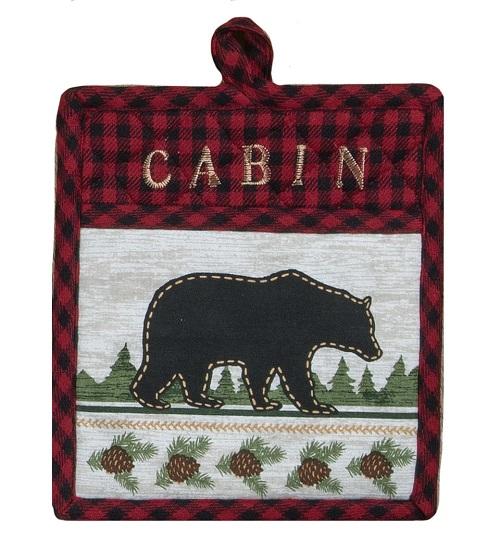 Kay Dee (R4212) Woodland Bear Embroidered Pocket Mitt