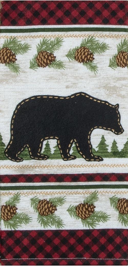 Kay Dee (R4210) Woodland Bear Terry Towel