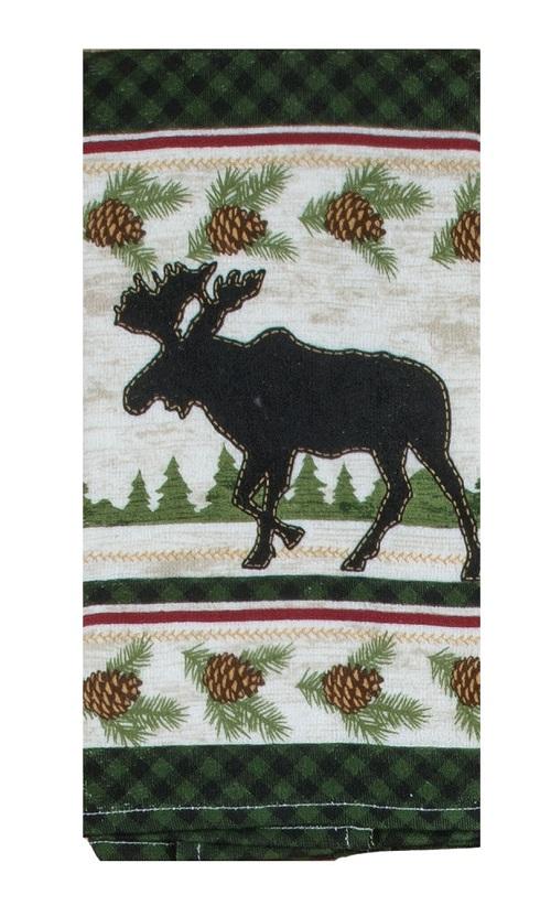 Kay Dee (R4220) Woodland Moose Terry Towel