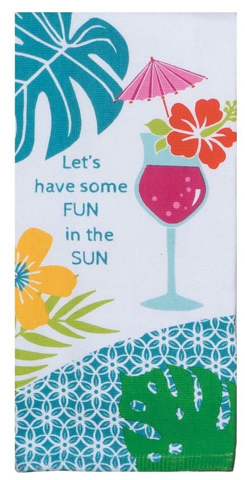 Kay Dee (R5332) Summer Fun in the Sun Dual Purpose Terry Towel